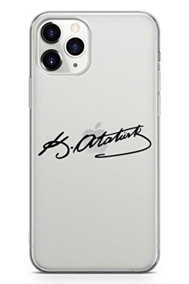 Lopard Apple İphone 11 Pro Kılıf Atatürk İmzası Kapak Renkli